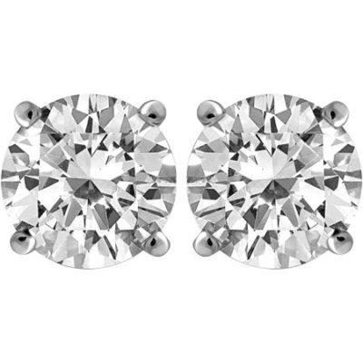 Walmart – Carina 1 Carat T.W. Round Diamond 14kt Gold Stud Earrings Only $278.00 (Reg $898.00) + Free Shipping