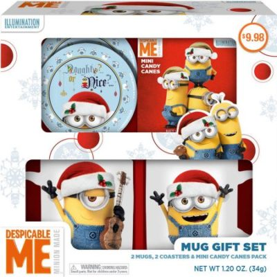 Walmart – Despicable Me Minion Mug Holiday Gift Set, 5 pc Only $8.98 (Reg $9.98) + Free Store Pickup