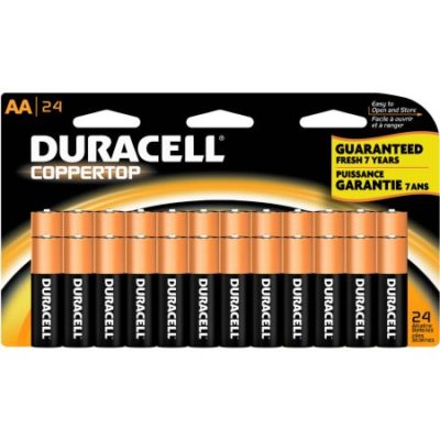 Walmart – Duracell Coppertop AA Household Batteries, 24 Count Only $12.79 (Reg $13.97) + Free Store Pickup