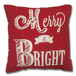 Sears – Merry & Bright Red/White Decorative Pillow Only $9.99 (Reg $24.99) + Free Store Pickup