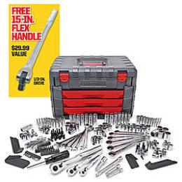 Sears – Craftsman 254 Pc. Mechanics Tool Set with 15″ Flex Handle Only $179.98 (Reg $299.99) + Free Shipping