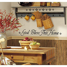 Sears – RoomMates God Bless This Home Peel & Stick Single Sheet Only $6.35 (Reg $9.99) + Free Store Pickup