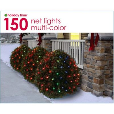 Walmart – Holiday Time Net Christmas Lights Multi, 150 Count Only $5.49 (Reg $8.98) + Free Store Pickup