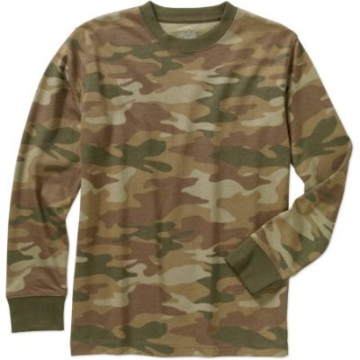 Walmart – Faded Glory Boys' Cotton Long Sleeve Crew Neck Camo Tee Only $3.00 (Reg $5.97) + Free Store Pickup