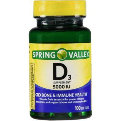 Walmart – Spring Valley: Vitamin D-3 Maximum Strength Softgels 5000 Iu Dietary Supplement, 100 ct Only $4.88 (Reg $5.94) + Free Store Pickup