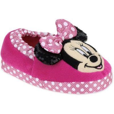 Walmart – Minnie Mouse Toddler Girls' Slippers Only $3.88 (Reg $9.97) + Free Store Pickup