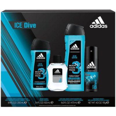 Walmart – Adidas Ice Dive Men's Bath Gift Set, 4 pc Only $7.48 (Reg $9.88) + Free Store Pickup