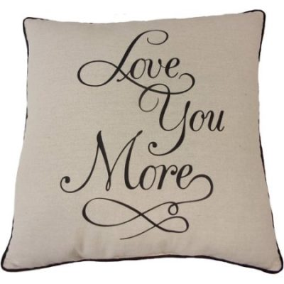Walmart – Mainstays Love You More Pillow Only $9.49 ( Reg $10.00) + Free Store Pickup