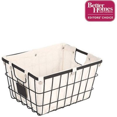 Walmart – Better Homes and Gardens Small Wire Basket with Chalkboard, Black (1 Piece) Only $6.95 (Reg $7.47) + Free Store Pickup