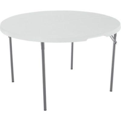 Walmart – Lifetime 48″ Round Fold-In-Half Table, White Granite Only $57.69 (Reg $97.40) + Free Shipping