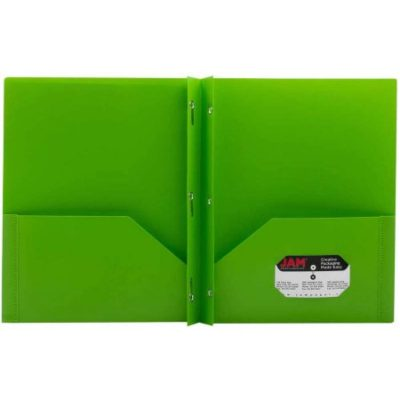 Walmart – JAM Paper Eco Plastic Presentation Folders with Clasps, Lime Green, 6pk Only $13.99 (Reg $96.00) + Free Store Pickup