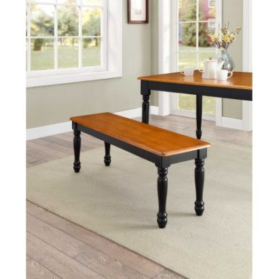 Walmart – Better Homes and Gardens Autumn Lane Farmhouse Bench, Black and Oak Only $49.00 (Reg $54.00) + Free Shipping