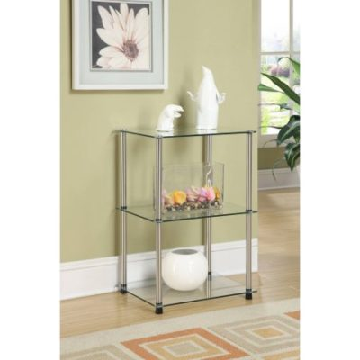 Walmart – Convenience Concepts Designs2Go No Tools 3 Tier Lamp / End Table, Metal and Glass Only $35.65 (Reg $49.00) + Free Shipping