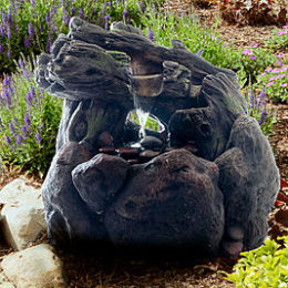Sears – Pure Garden LED Lighted Outdoor Rockery Fountain with Pump Only $137.60 (Reg $154.95) + Free Shipping