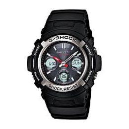 Sears – Casio Men's Calendar Day/Date Solar Power Chronograph Watch w/Silvertone/Black Case Ani-Digi Dial and Black Band Only $75.00 (Reg $150.00) + Free Shipping