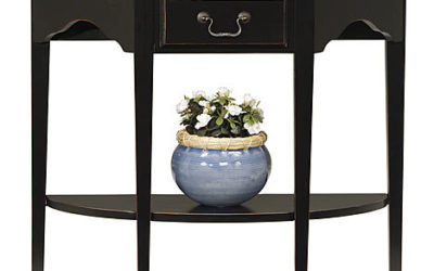 Sears – Leick Demilune Console Table – Slate Black Only $99.99 (Reg $159.00) + Free Shipping