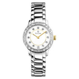 Sears – Bulova Ladies Stainless Steel with Swarovski Elements® Crystals Watch Only $82.50 (Reg $275.00) + Free Shipping