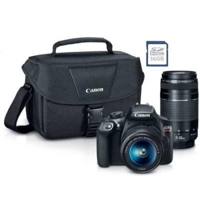 Walmart – Canon EOS Rebel T6 Digital SLR Camera with 18 Megapixels and 18-55mm, 75-300mm Lenses, Bonus SD card, and WiFi Only $549.00 (Reg $599.00) + Free 2-Day Shipping