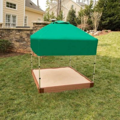Walmart – 2″ Series 4′ x 4′ x 5.5″ Composite Square Sandbox Kit with Canopy/Cover Only $92.37 (Reg $161.03) + Free Shipping