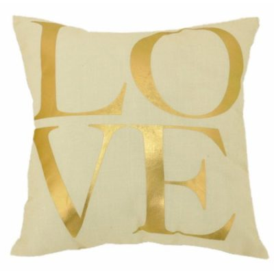 Walmart – Formula Love and Hearts Reversible Print Decorative Pillow, White and Gold Only $9.99 (Reg $12.88) + Free Store Pickup