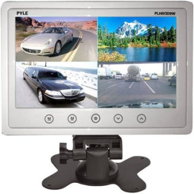 "Walmart – Pyle 9"" Video Display Monitor, Quad View (4) Source Zone Display, Multiple Source Input, Selectable Viewing Mode, Backup Camera Compatible (White) Only $55.54 (Reg $99.99) + Free 2- Day Shipping"