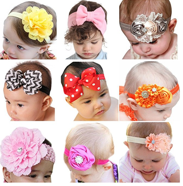 Amazon – ROEWELL Baby Girl's Headbands w/Hair Bows Only $8.99 (Reg $32.00)