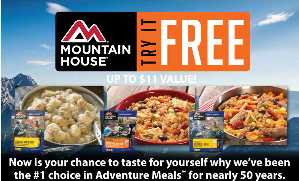 Amazon free mountain house freeze dried meal after for Mountain house coupon