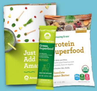 2 Free Amazing Grass Superfood Samples & Recipe Book