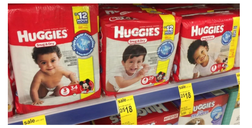 Huggies Diapers Only $3.67 At Walgreen's After $3.00 Off Printable Coupon (Print Now!)