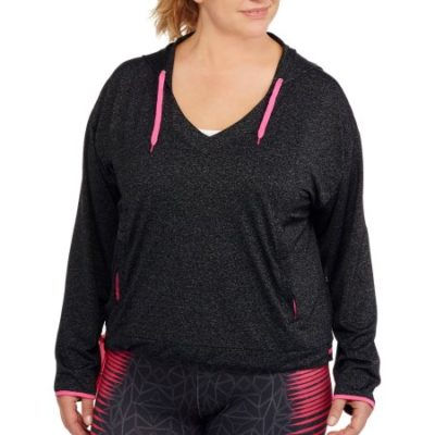 Walmart – Women's Plus-Size Long Sleeve Hoodie with Contrast Color Only $6.00 (Reg $33.00) + Free Store Pickup