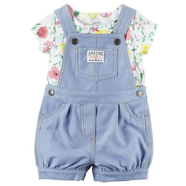 Sears – Carter's Newborn & Infant Girls' Shirt & Shortalls – Floral Only $13.99 (Reg $28.00) + Free Store Pickup