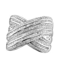 Sears – 2 cttw. Diamond Sterling Silver Ring Only $299.99 (Reg $749.99) + Free Shipping