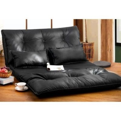 Walmart – Merax PU Leather Foldable Floor Sofa/Bed with Two Pillows, Black Only $153.00 (Reg $171.00) + Free Shipping