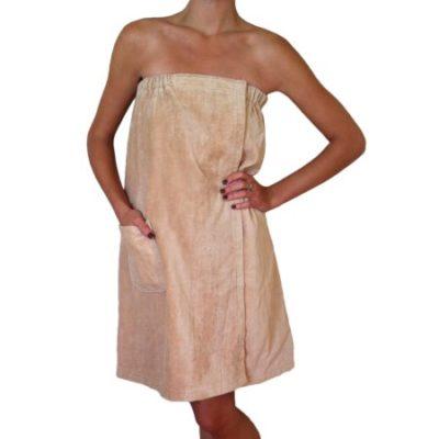 Walmart – Radiant Saunas Women's Spa & Bath Terry Cloth Towel Wrap – Tan Only $18.94 (Reg $24.23) + Free Shipping