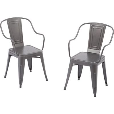 Walmart – Better Homes and Gardens Camrose Farmhouse Industrial Chairs, Gray, 2pk Only $39.56 (Reg $99.00) + Free Shipping