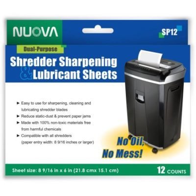 Walmart – Nuova SP12 Shredder Sharpening and Lubricant Sheets, 12-Count Only $9.50 (Reg $11.20) + Free Store Pickup