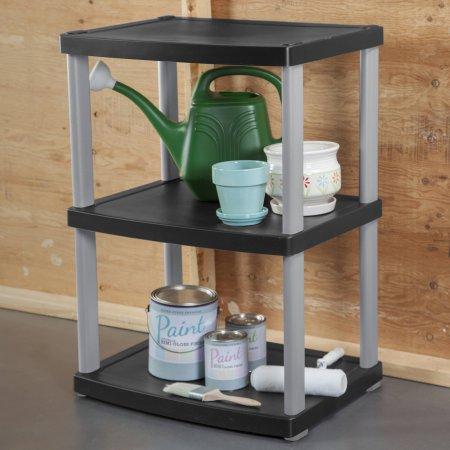 Walmart – Sterilite 3-Shelf Unit, Black Only $6.67 (Reg $21.88) + Free Store Pickup