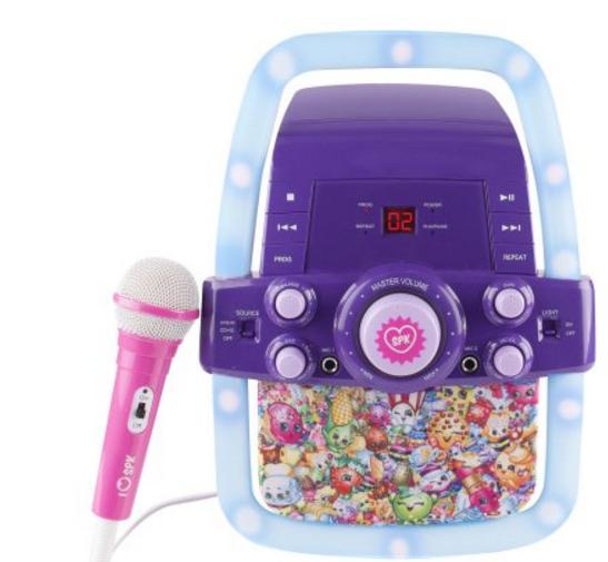 Shopkins Flashing Light Karaoke Machine Only $24 (Regularly $65.88) at Walmart.com + Free Store Pickup