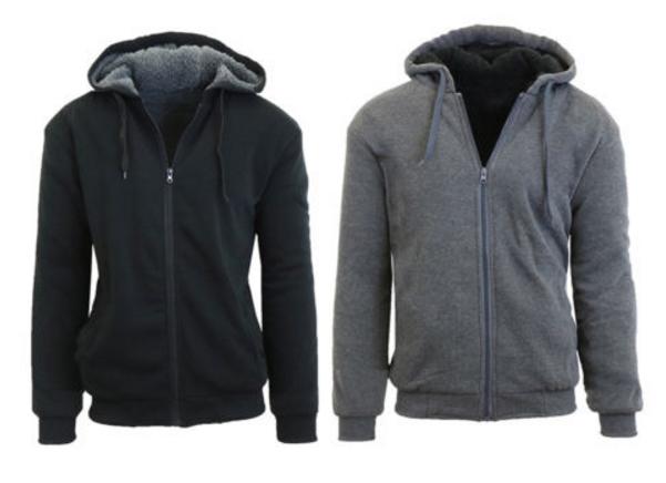 Ebay – Mens New Sherpa Lined Fleece Zip-Up Hoodie Only $16.99 (Reg $39.99)