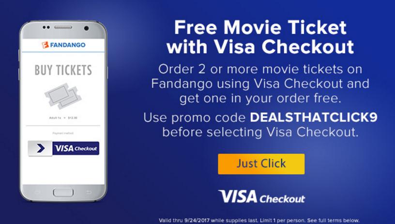 Fandango – Buy 1 Get 1 Free Movie Tickets (Up to $25 Value)