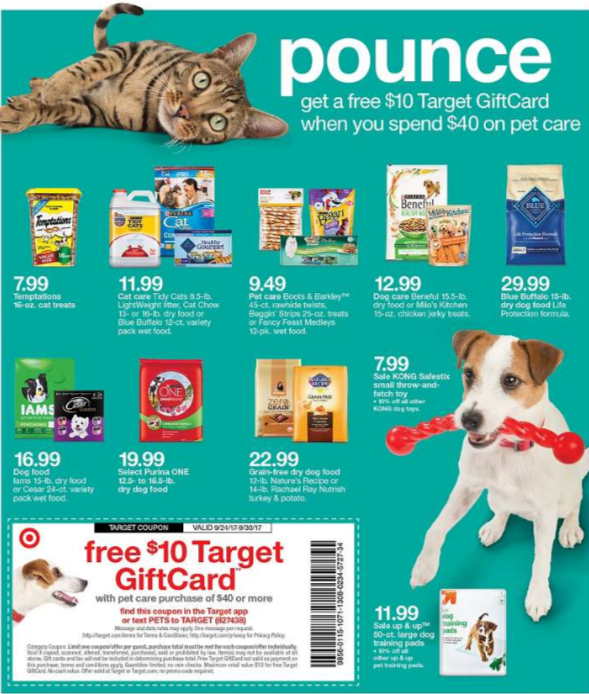 FREE $10 Target Gift Card with $40 Pet Purchase + 3 Deal Scenarios