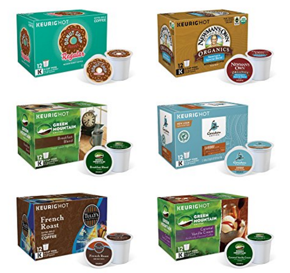 Amazon – Keurig Single-Serve K-Cup Pods, Variety Pack, 72 Count (6 Boxes of 12 Pods) Only $27 Shipped!