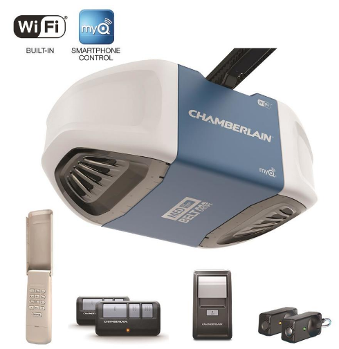 Lowes.com – Chamberlain 0.5 Belt Drive Garage Door Opener w/Built-In WiFi Only $138.00 + Free Shipping!