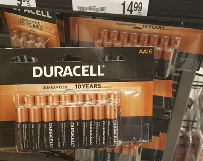 Office Depot/OfficeMax – Duracell Batteries 16 Count Pack Only 1¢ After Rewards