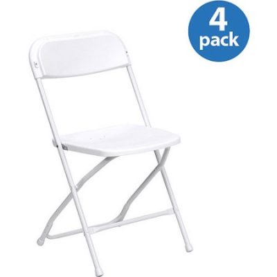 Walmart – HERCULES Series Premium Plastic Folding Chair, White, Set of 4 Only $58.48 (Reg $65.10) + Free Shipping