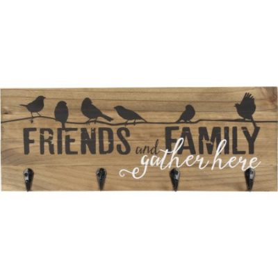 Walmart – Better Homes and Gardens Family and Friends Wood Plaque with 4 Key Hooks Only $3.95 (Reg $9.87) + Free Store Pickup