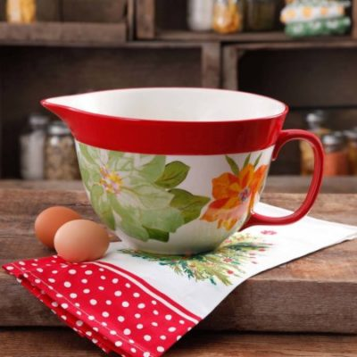 Walmart – The Pioneer Woman Poinsettia Batter Bowl, 2.83 qt Only $9.97 (Reg $18.82) + Free Store Pickup