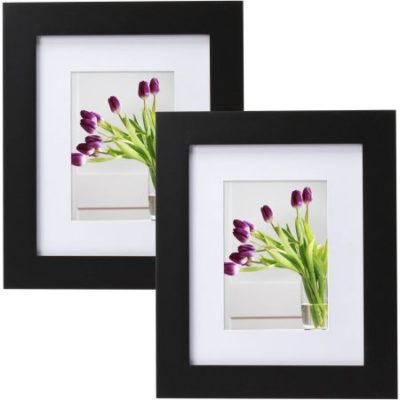 Walmart – Mainstays Museum 8″ x 10″ Matted to 5″ x 7″ Picture Frame, Black, Set of 2 Only $8.55 (Reg $14.69) + Free Store Pickup