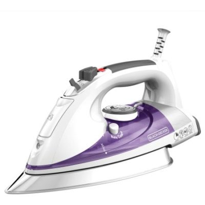 Walmart – BLACK+DECKER Professional Steam Iron with Pivoting Cord, Purple IR1350S Only $14.99 (Reg $24.96) + Free Store Pickup