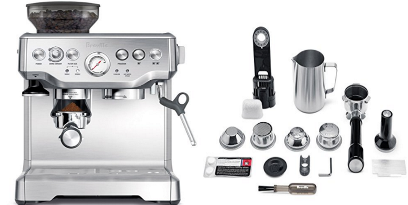 Amazon – Breville BES870XL Barista Express Espresso Machine Only $459.99 (Reg $529.99) + Free Shipping!
